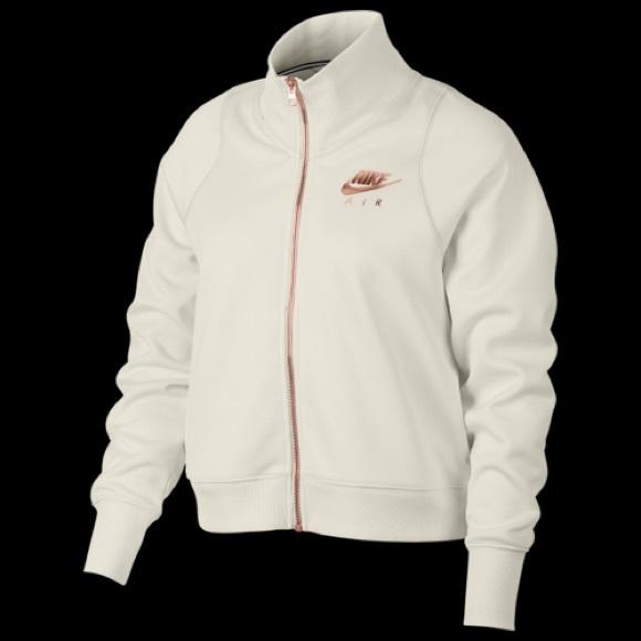 8f42203482d7 Women s Nike Rose Gold Metallic Air Track Jacket. M 5c631ec7de6f625de612f918